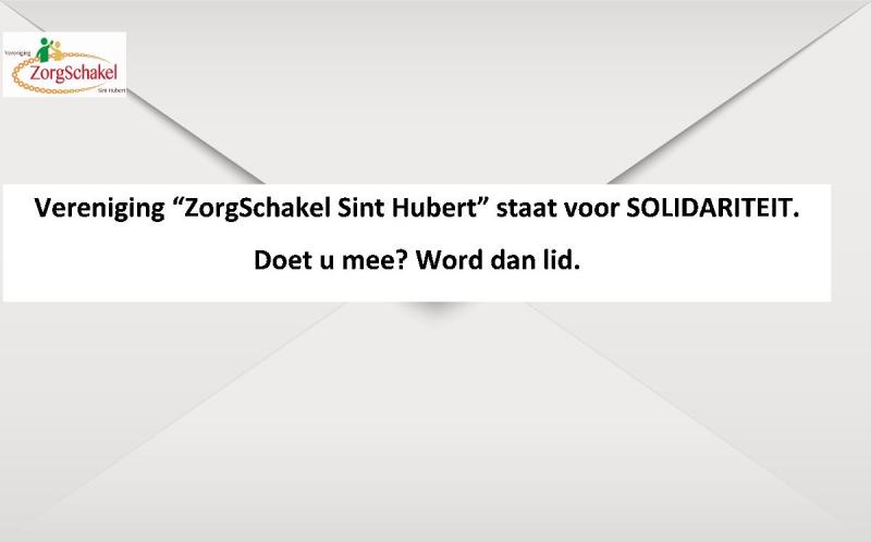 Vereniging ZorgSchakel Sint Hubert start  promotie actie