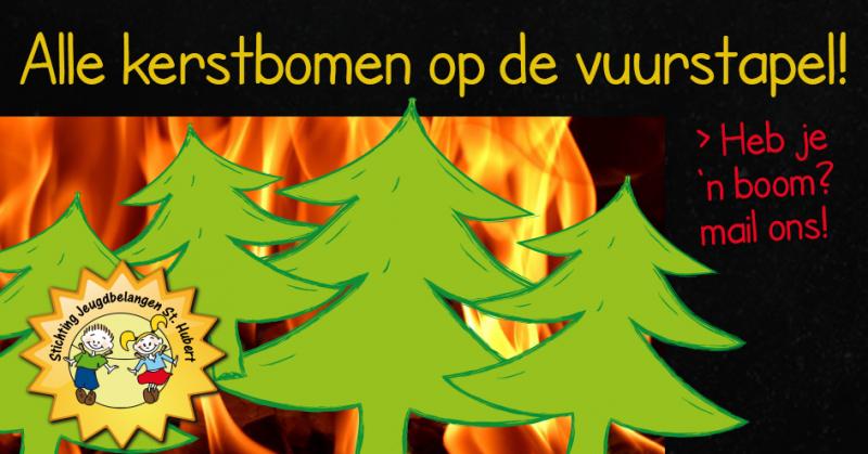 Leg uw kerstboom nu al aan de straat