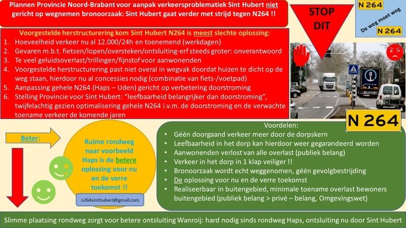 Actiegroep N264 bezorgt flyers tegen herstructurering
