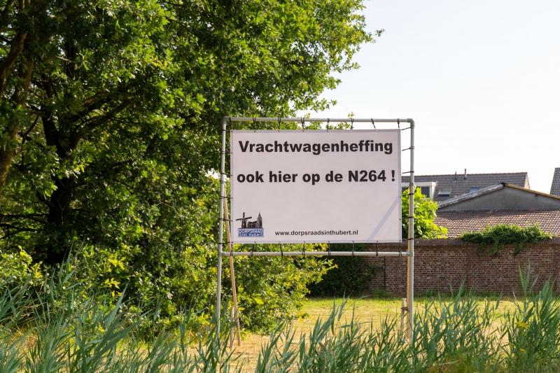 Ook vrachtwagenheffing in Sint Hubert