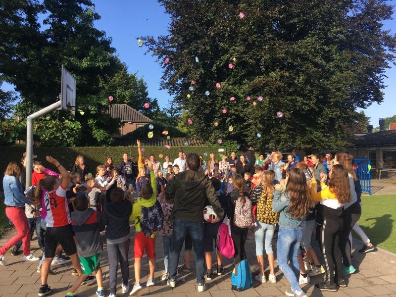 Een spetterende start voor basisschool De Schare in Sint Hubert.