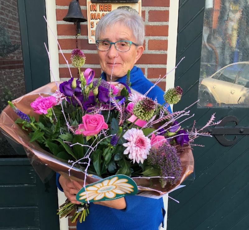Weekboeket voor Cobie Polman in Sint Hubert