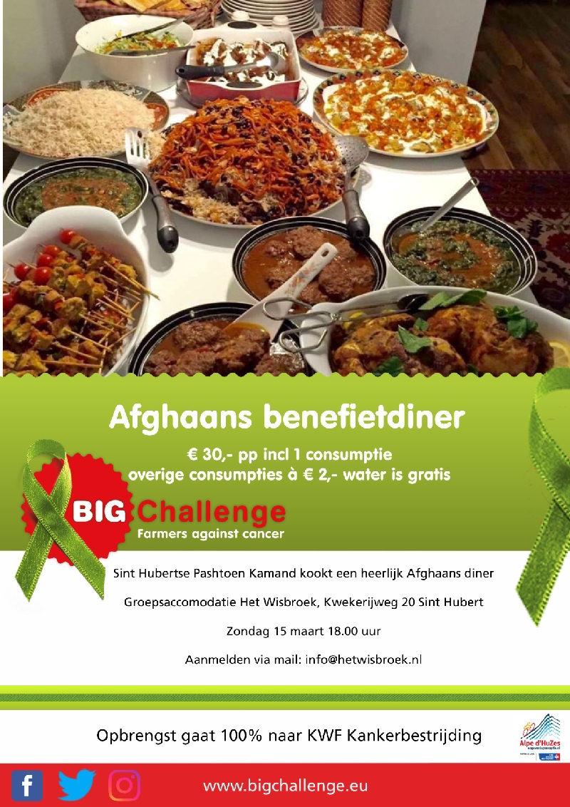 Afghaans Benefietdiner voor BIG Challenge