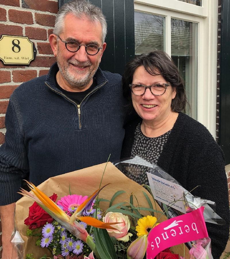 Weekboeket voor Jolande en Willy v.d. Wiel in Sint Hubert