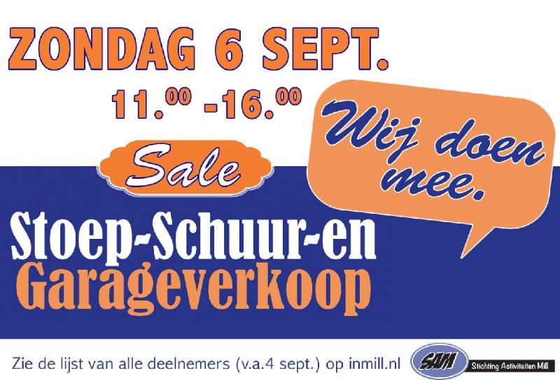 Ruim 180 deelnemende adressen bij stoep en garageverkoop in gemeente Mill en Sint Hubert