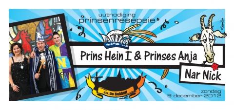 Prinsenreceptie CV de Bokken prins Hein 1 en prinses Anja